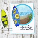 Surf's Up Beach Scene Card With Maker Forte June Release
