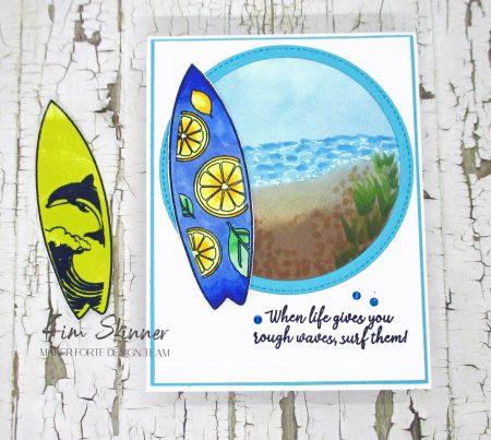 Beach Scene Card With Maker Forte