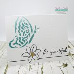 Single Layer Clean And Simple Card: Adding Color With Nuvo Paste and Drops