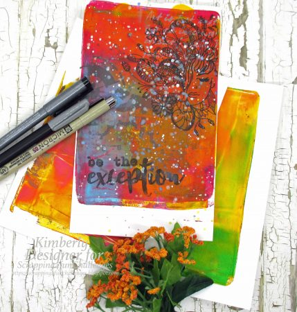 Gelli plates and doodles
