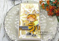 Bee Girl Mini Slimline Card