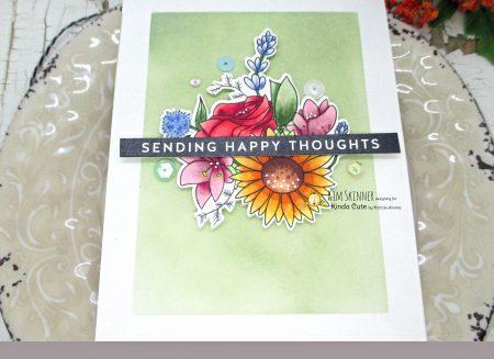 Easy background for digital floral stamp
