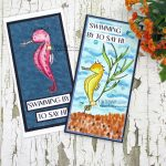 Summer Seahorse Card + Quick Tip For Cutting Sentiments and Layers