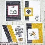 Patterned Paper Challenge: 8 Cards