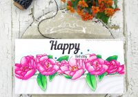 Birthday Card with Sheepskin designs digital stamp