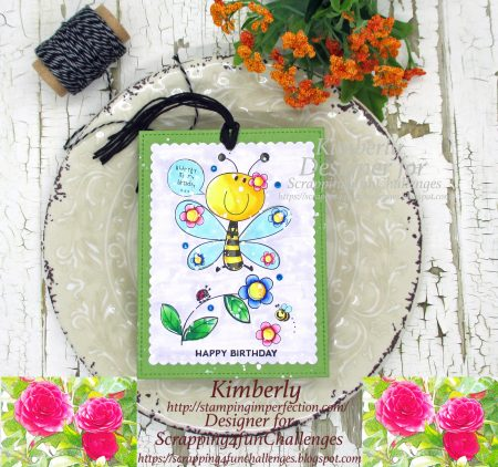 All Dressed Up digital stamps: Birthday Tag