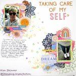Challenge YOUrself August Scrapbook Challenge: Self Care