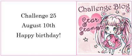 Star Stampz Mini Slimline Birthday Card