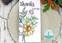 3 slimline cards featuring trinity stamps