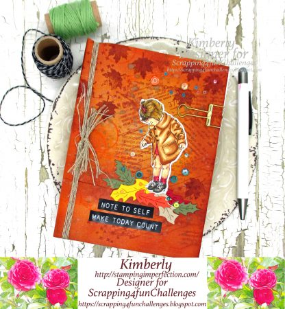 Autumn Journal With Mixed Media Elements