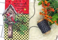 Scrappy Tails Crafts Cardinal Gift Tag