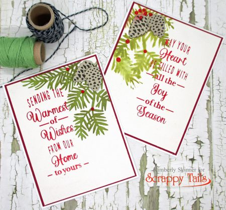 Assorted Christmas Leaves Hop for Scrappy Tails Crafts