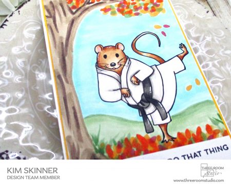 Martial Arts Mouse Fall Card